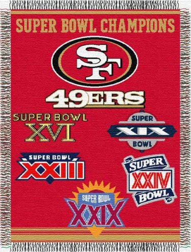 San Francisco 49ers Commemorative Throw Blanket