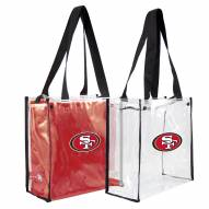 San Francisco 49ers Convertible Clear Tote