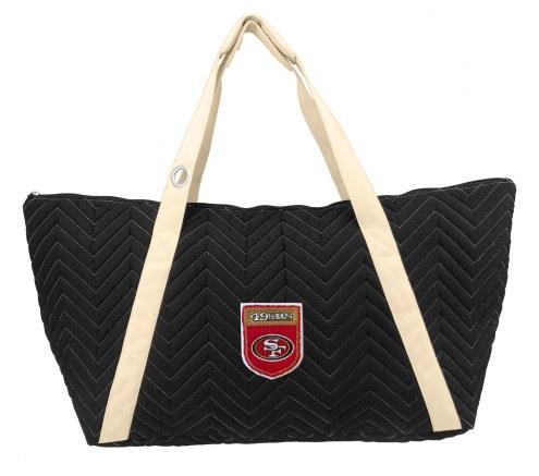 San Francisco 49ers Crest Chevron Weekender Bag