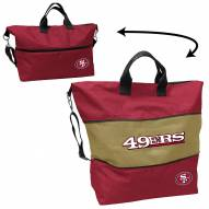 San Francisco 49ers Crosshatch Expandable Tote