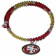 San Francisco 49ers Crystal Memory Wire Bracelet