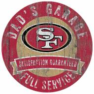 San Francisco 49ers Dad's Garage Sign