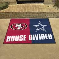 San Francisco 49ers/Dallas Cowboys House Divided Mat