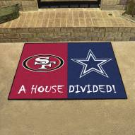 San Francisco 49ers/Dallas Cowboys House Divided Mat