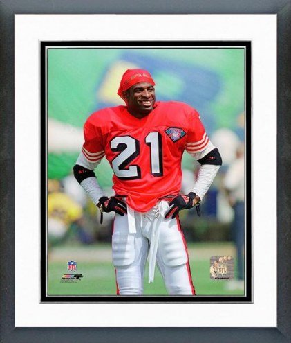 San Francisco 49ers Deion Sanders 1994 Action Framed Photo