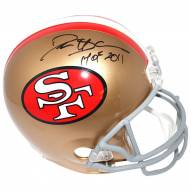 San Francisco 49ers Deion Sanders Signed Full Size Replica Helmet w/ HOF 2011