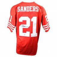 San Francisco 49ers Deion Sanders Signed Mitchell & Ness Retired Player Vintage Replica Jersey