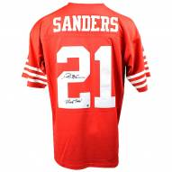 San Francisco 49ers Deion Sanders Signed Mitchell & Ness Retired Player Vintage Replica Jersey w/ Primetime