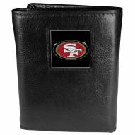 San Francisco 49ers Deluxe Leather Tri-fold Wallet in Gift Box