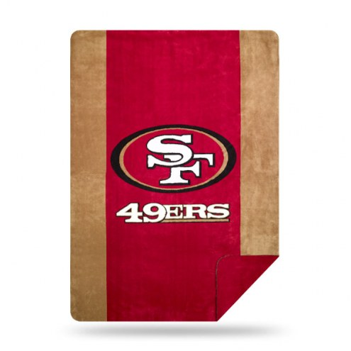 San Francisco 49ers Denali Sliver Knit Throw Blanket