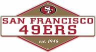 San Francisco 49ers Diamond Panel Metal Sign