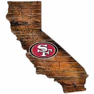 San Francisco 49ers Distressed State with Logo Sign