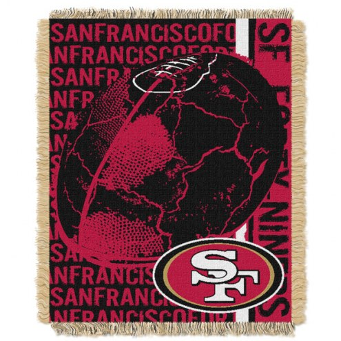 San Francisco 49ers Double Play Jacquard Throw Blanket
