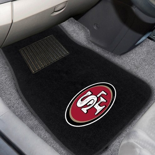 San Francisco 49ers Embroidered Car Mats