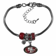San Francisco 49ers Euro Bead Bracelet