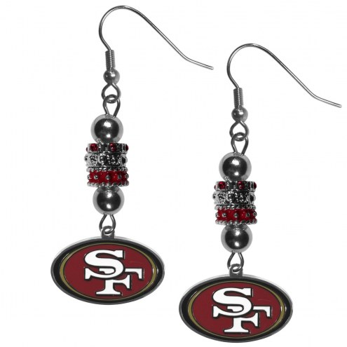 San Francisco 49ers Euro Bead Earrings