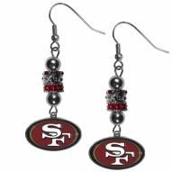 San Francisco 49ers Euro Bead Earrings