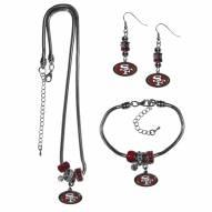 San Francisco 49ers Euro Bead Jewelry 3 Piece Set
