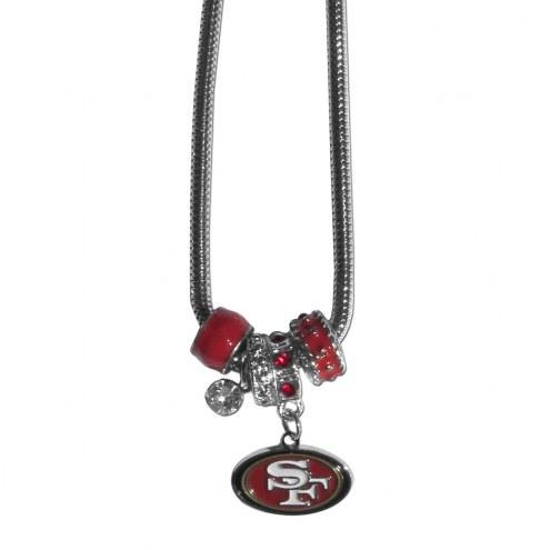 San Francisco 49ers Euro Bead Necklace