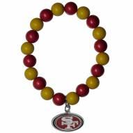 San Francisco 49ers Fan Bead Bracelet