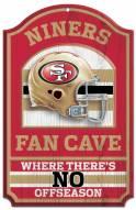 San Francisco 49ers Fan Cave Wood Sign