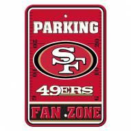 San Francisco 49ers Fan Zone Parking Sign