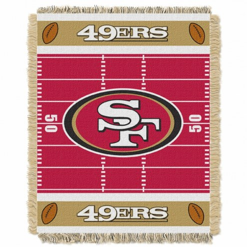 San Francisco 49ers Field Baby Blanket