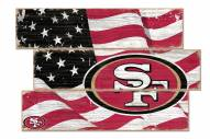 San Francisco 49ers Flag 3 Plank Sign