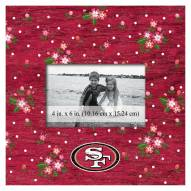 """San Francisco 49ers Floral 10"""" x 10"""" Picture Frame"""