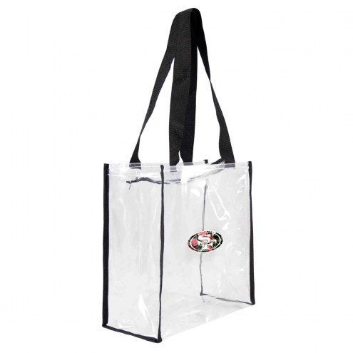 San Francisco 49ers Floral Clear Square Stadium Tote
