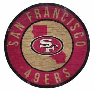 San Francisco 49ers Round State Wood Sign