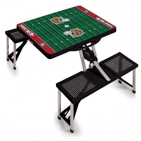 San Francisco 49ers Folding Picnic Table