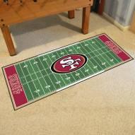 San Francisco 49ers Football Field Runner Rug