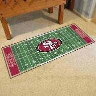 San Francisco 49ers Football Field Runner Rug