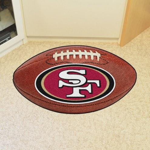 San Francisco 49ers Football Floor Mat