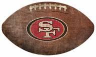 San Francisco 49ers Football Shaped Sign