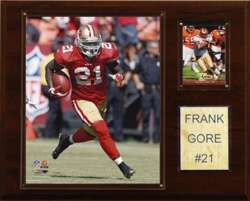 "San Francisco 49ers Frank Gore 12 x 15"" Player Plaque"