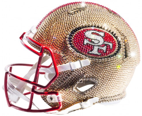 San Francisco 49ers Full Size Swarovski Crystal Football Helmet