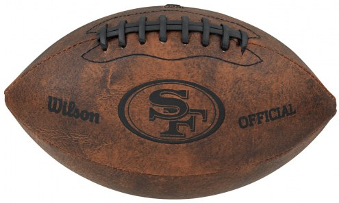 San Francisco 49ers Vintage Throwback Football