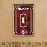 San Francisco 49ers Glass Single Light Switch Plate Cover