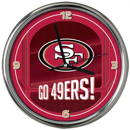 San Francisco 49ers Go Team Chrome Clock