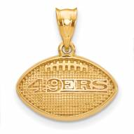 San Francisco 49ers Gold Plated Football Pendant