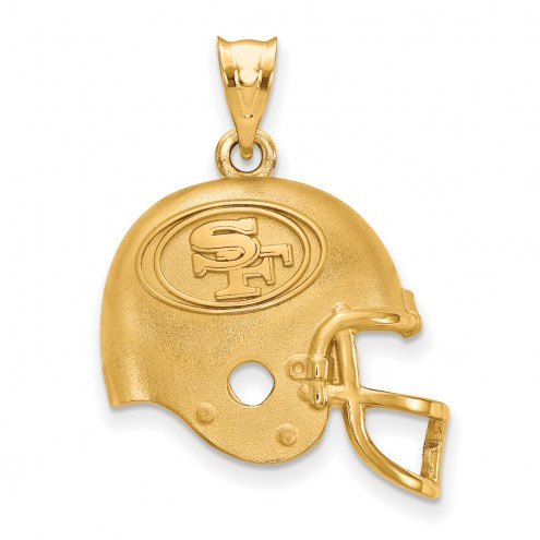 San Francisco 49ers Gold Plated Helmet Pendant