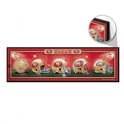 San Francisco 49ers Helmets Wood Sign