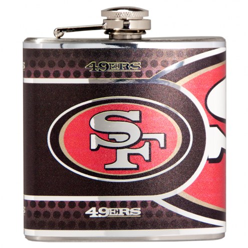 San Francisco 49ers Hi-Def Stainless Steel Flask