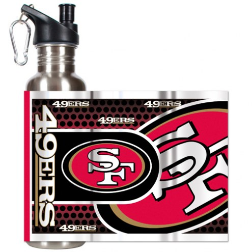 San Francisco 49ers Hi-Def Stainless Steel Water Bottle
