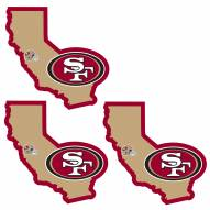 San Francisco 49ers Home State Decal - 3 Pack