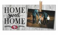 San Francisco 49ers Home Sweet Home Clothespin Frame