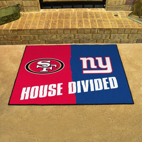 San Francisco 49ers/New York Giants House Divided Mat