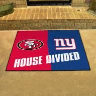 San Francisco 49ers/New York Giants House Divided Mat